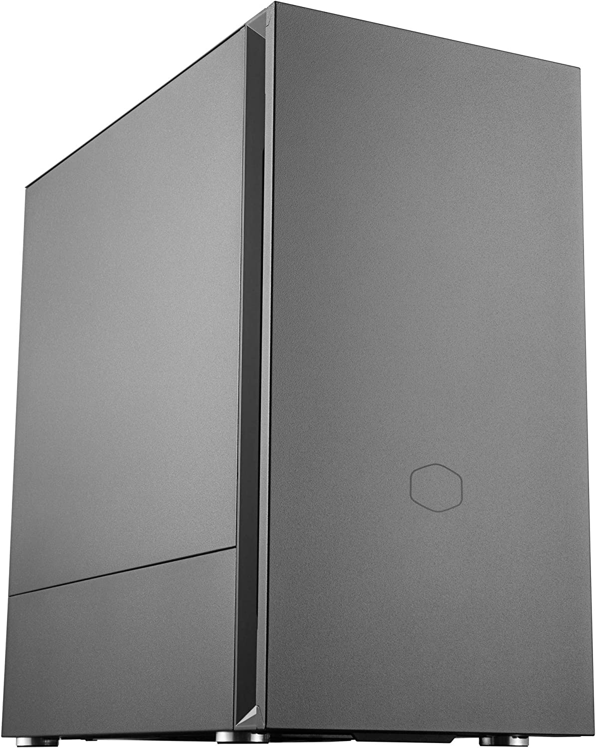 Cooler Master Silencio S400 mATX Tower W/Sound-Dampening Material, Sound-Dampened Steel Side Panel, Reversible Front Panel, SD Card Reader, and 2X 120mm PWM Silencio FP Fans
