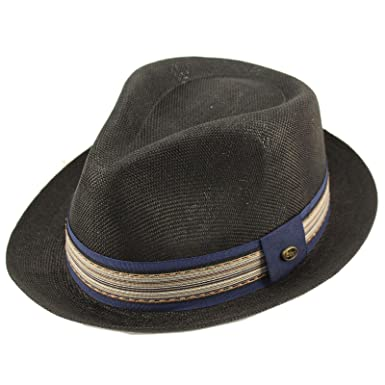 9431ba22b4c Epoch Men's Primo Summer Lightweight Linen Derby Fedora Upturn Brim Hat ...