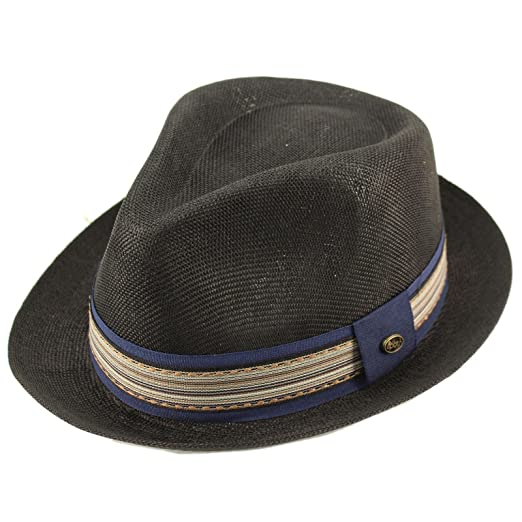 8c5f34eb6aa Epoch Men s Primo Summer Lightweight Linen Derby Fedora Upturn Brim Hat ...
