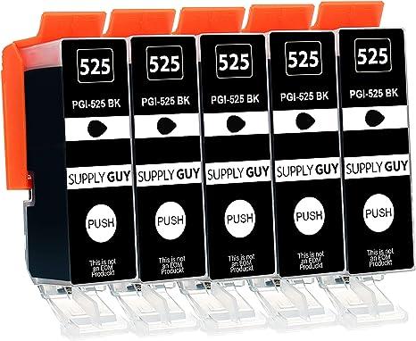 Imagen de5 Cartuchos de Tinta con viruta Compatible con Canon PGI-525 PGBK Negro para IP4850 IP4950 IX6550 MG5140 MG5150 MG5240 MG5250 MG5340 MG5350 MG6150 MG6250 MG8150 MG8240 MG8250 MX715 MX885 MX895