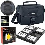 Canon 200ES Camera Shoulder Bag (9320A023) for Canon EOS Rebel T6 T7 T5i T6i T7i EOS 90D 80D 70D 6D EOS Sl3 SL2. Bundle…