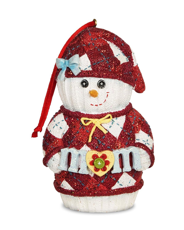 The Sockings 93065Mom Snowman Figurine, 4 4 Pavilion Gift Company