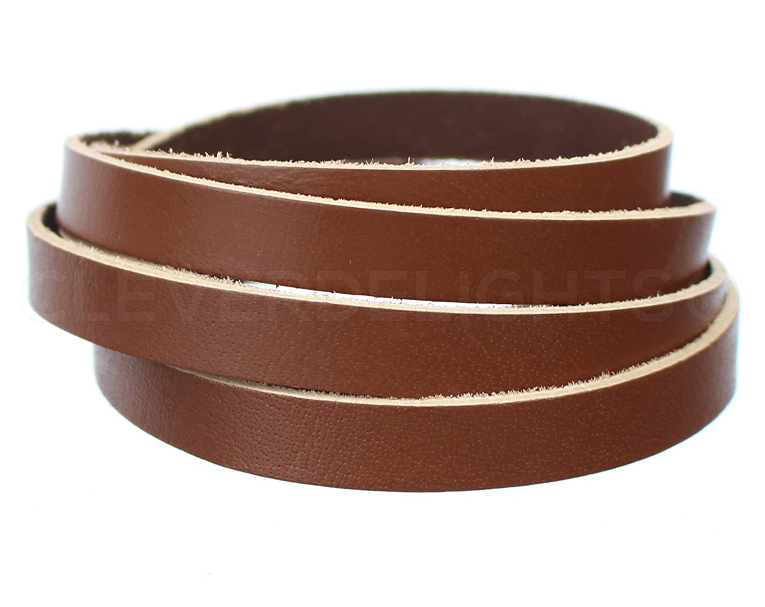 CleverDelights Premium Cowhide Leather Strap Jewelry Supply Craft 1//2 x 84 Brown 5oz Genuine Leather