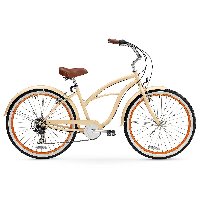 sixthreezero Women s Beach Cruiser Bicycle, 26 Wheels 17 Frame
