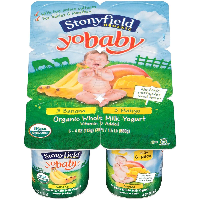 Stonyfield Farm, Yogurt Yobaby Banana Mango Organic, 4 Ounce, 6 Pack