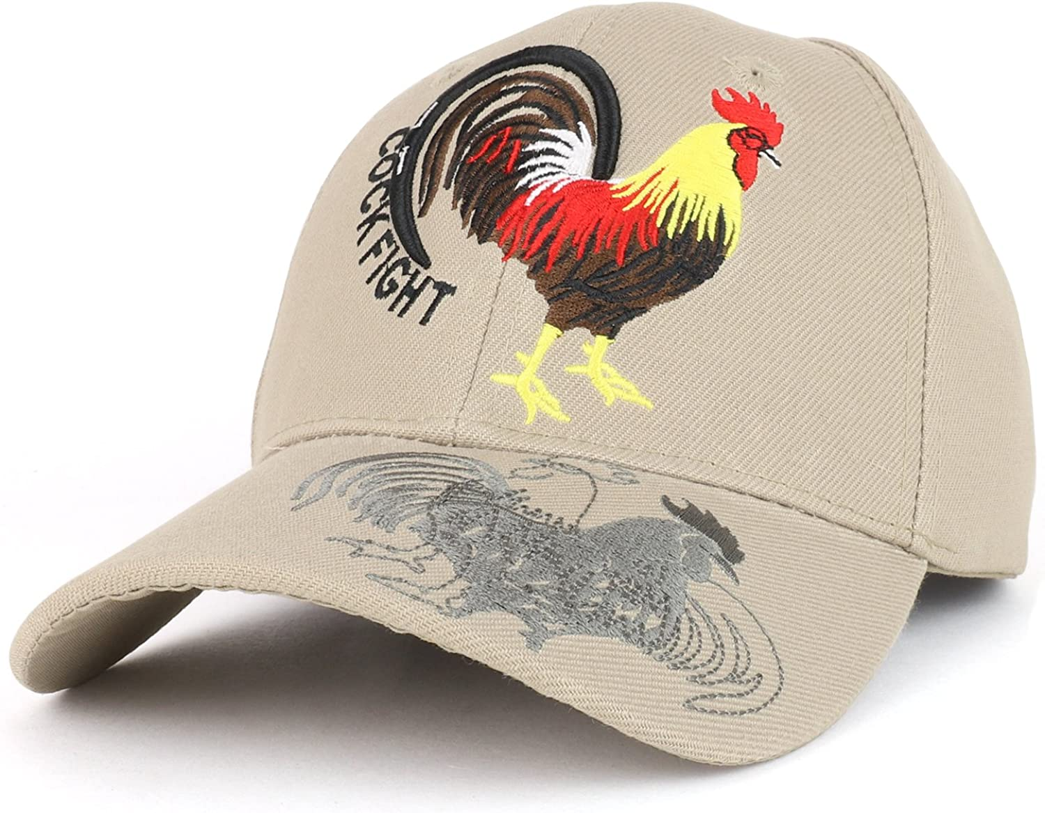 COCK FIGHT ROOSTER ROOSTERS BASEBALL CAP BLACK