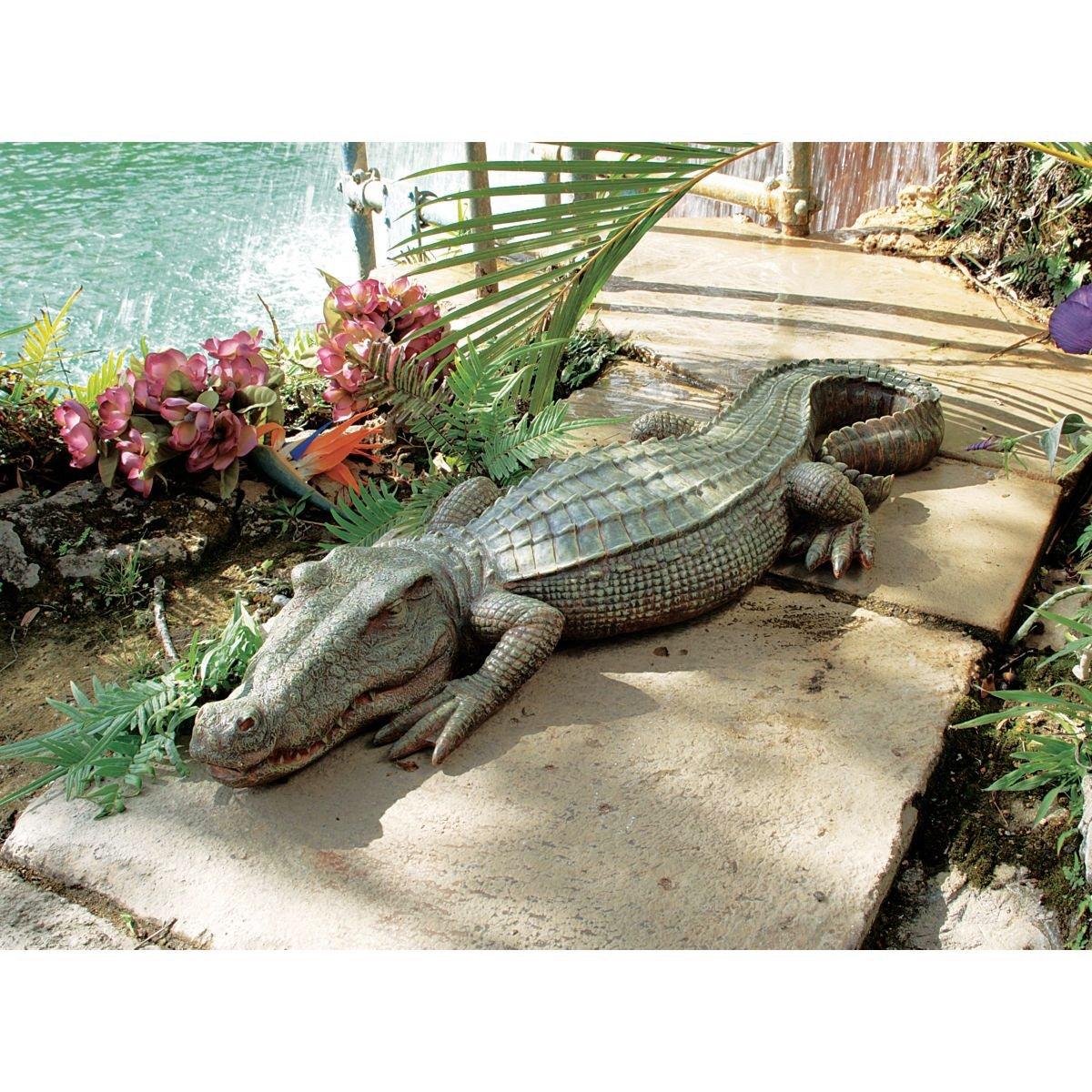 Marvelous Alligator Sculpture Home Garden Pond Crocodile Outdoor Patio Gator Decor  Statue