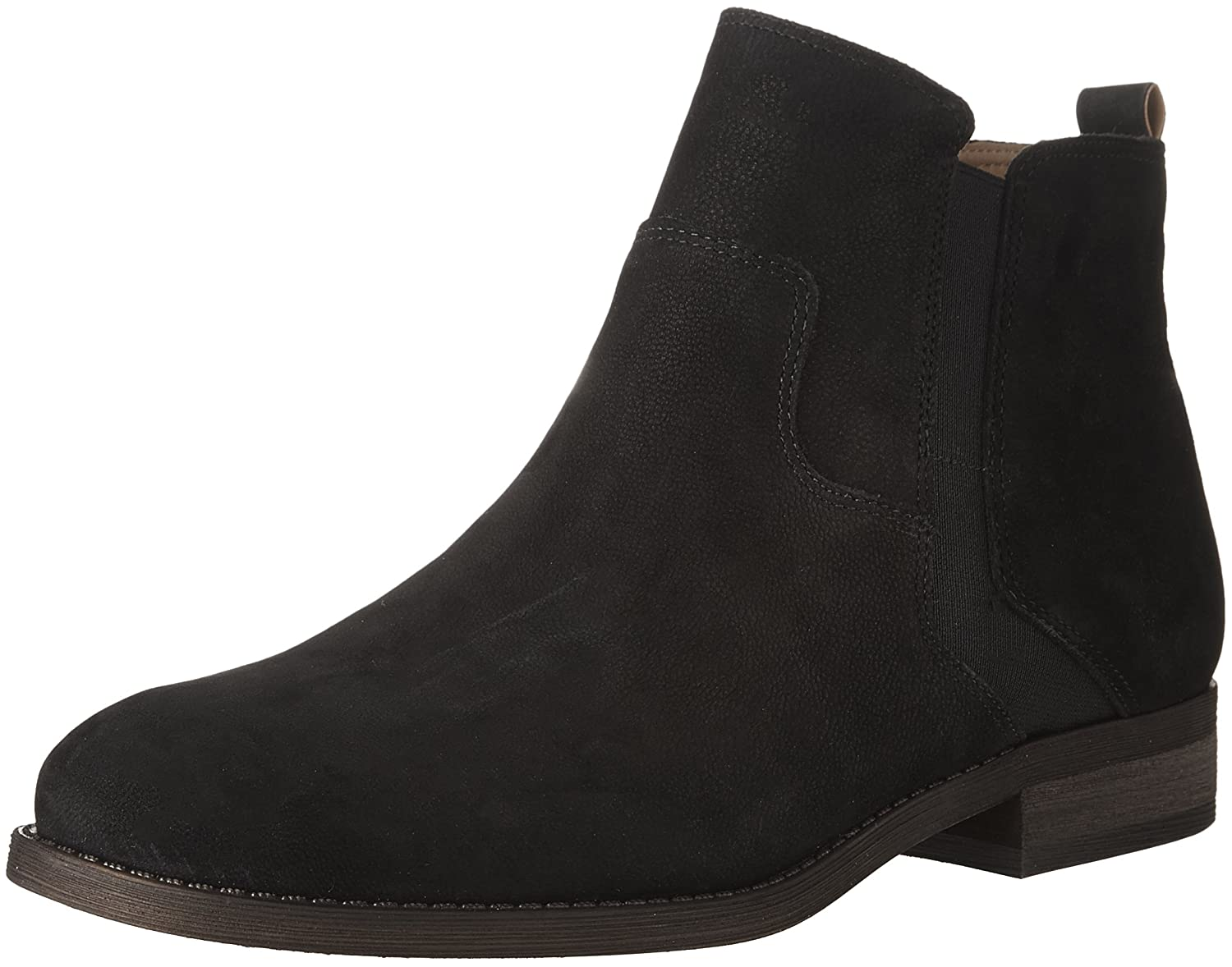 Black Leather Franco Sarto Women's Kane Ankle Boot