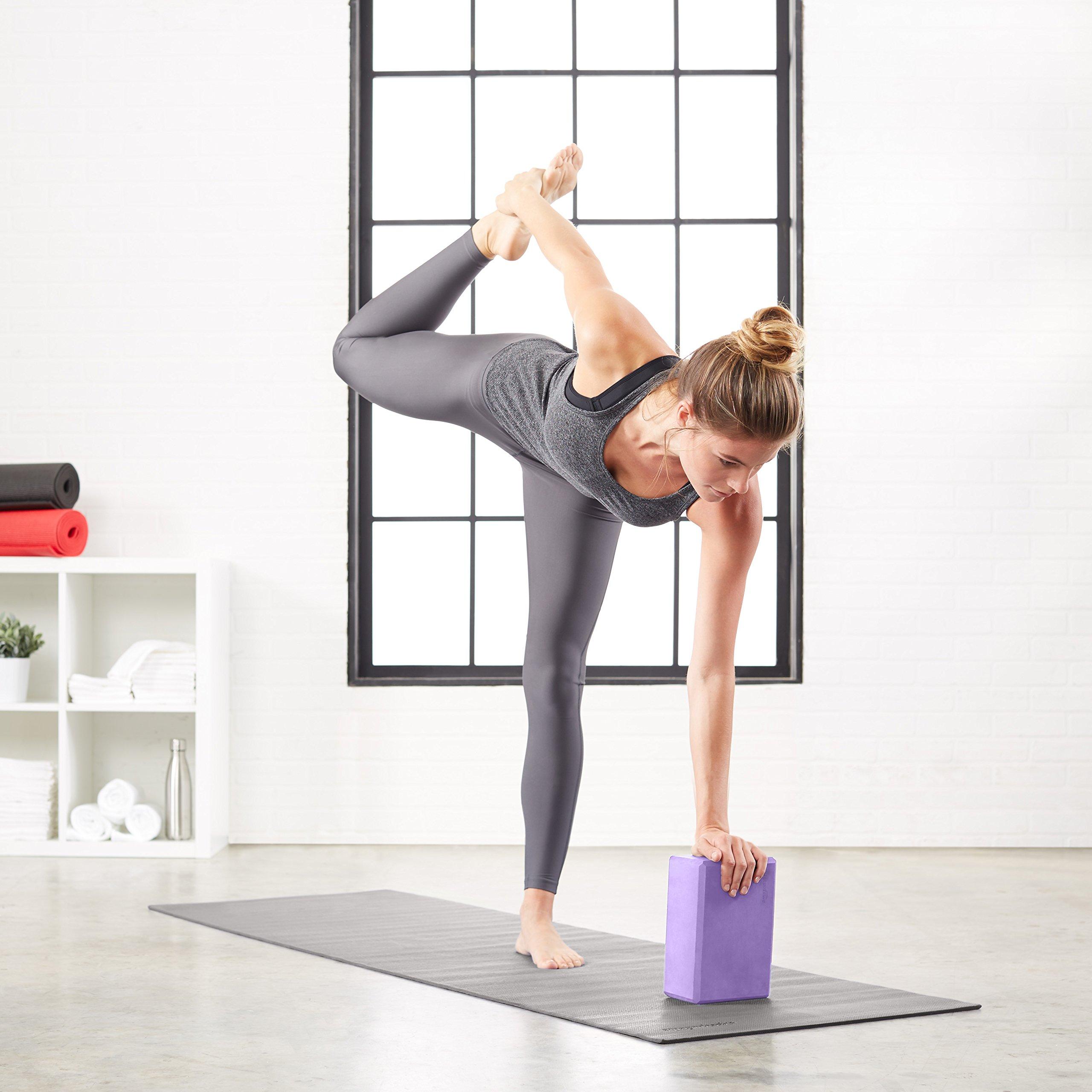 AmazonBasics Foam Yoga Blocks - 4 x 9 x 6 Inches, Set of 2, Purple by AmazonBasics (Image #3)