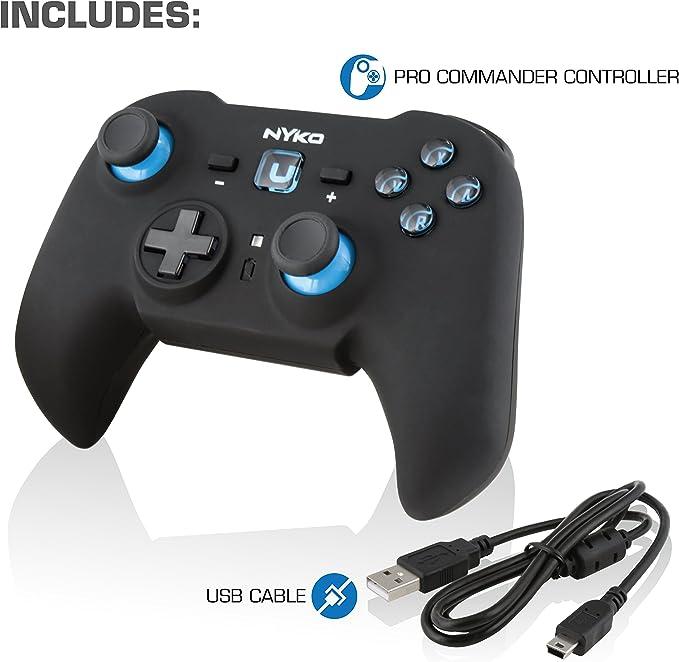 Nyko Pro Commander - Volante/mando (Gamepad, Nintendo Wii U, Analogue / Digital, Inalámbrico, USB 2.0, 7,62m) Negro: Amazon.es: Videojuegos