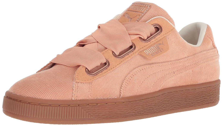 PUMA Women's Basket Heart Corduroy Sneaker B077ST6NL6 8.5 M US|Dusty Coral-dusty Coral