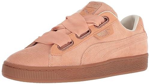 Puma Mujer Dusty Coral Corduroy Basket Heart Zapatillas: Amazon.es: Zapatos y complementos