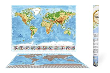 Unique scratch world travel map perfect for your journey amazon unique scratch world travel map perfect for your journey gumiabroncs Images