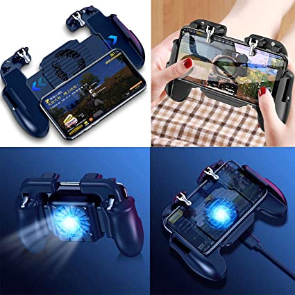 ETbotu for PUBG Mobile iOS Android Controller Gamepad with Cooling Fan  Gaming Trigger