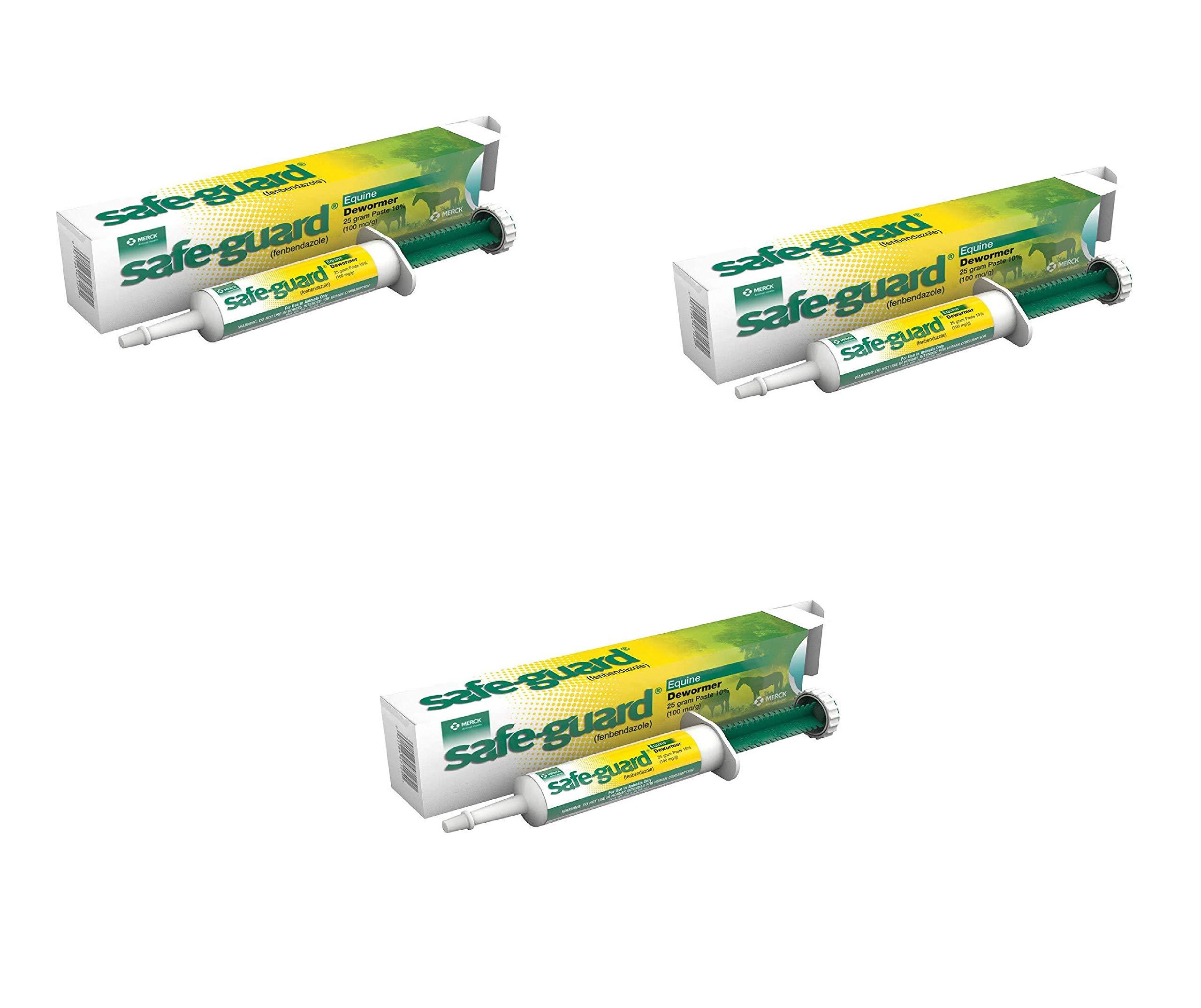 Merck Animal Safe Guard 25 Gram Paste Equine Dewormer (3 Pack)