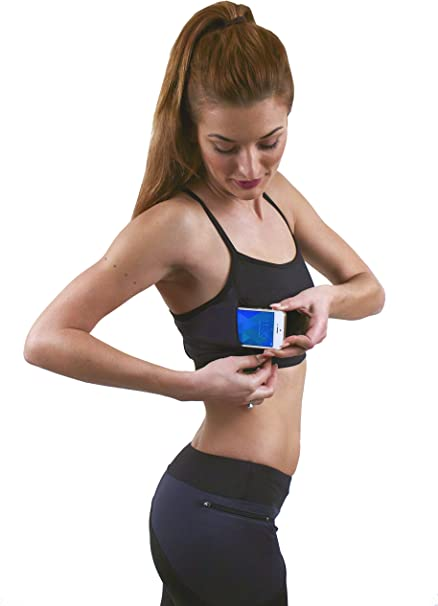 Zippy Sports Yoga//Running Tights with Zippered Cell Phone EMF Blocking Pocket