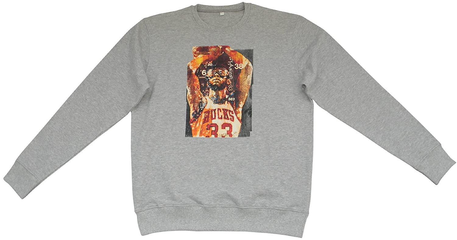 ACTS- Basketball Heros Men's Crew Neck Long Sleeve Jumper Grey Grey Large