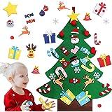 Felt Christmas Tree for Toddlers, Zabrina Felt Christmas Ornaments DIY Tree Set with 26 Pcs Detachable Decorations…