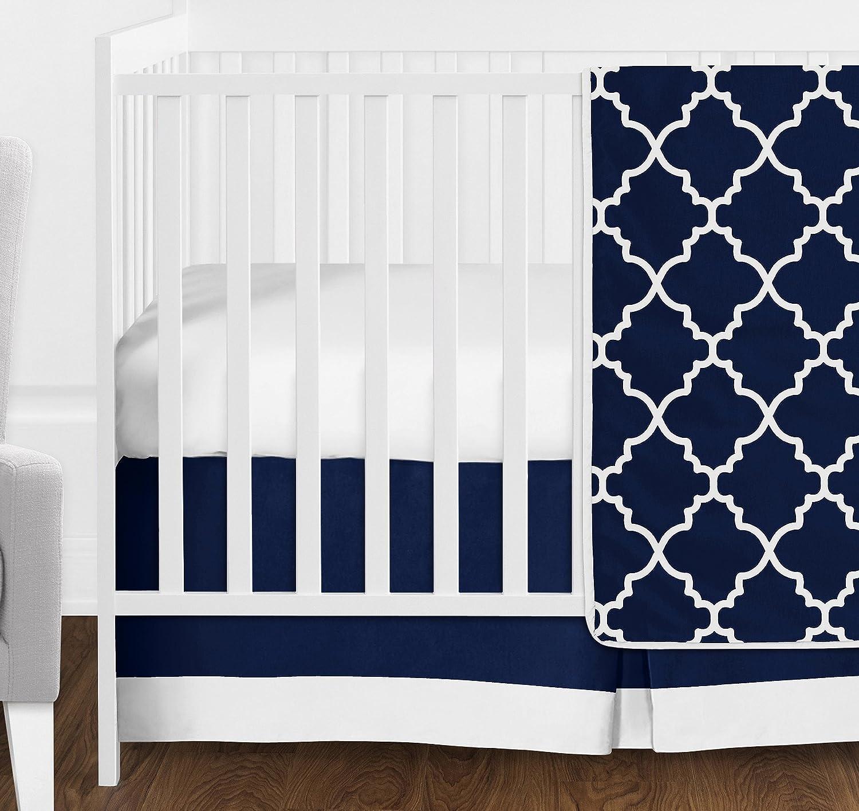 Black and White Trellis Print Kids Childrens Lattice Bedding Sets Sweet Jojo Designs Toddler Bed Skirt for Red