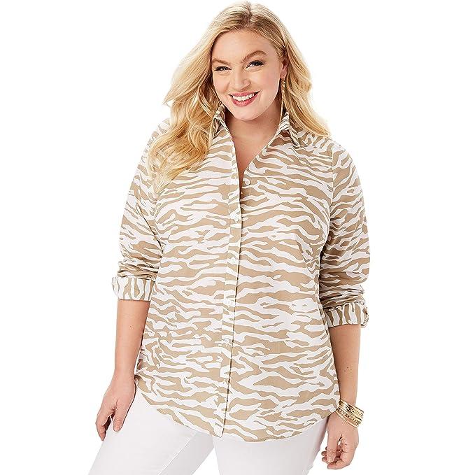2ed5d59e8d Roamans Women s Plus Size The Kate Shirt at Amazon Women s Clothing ...