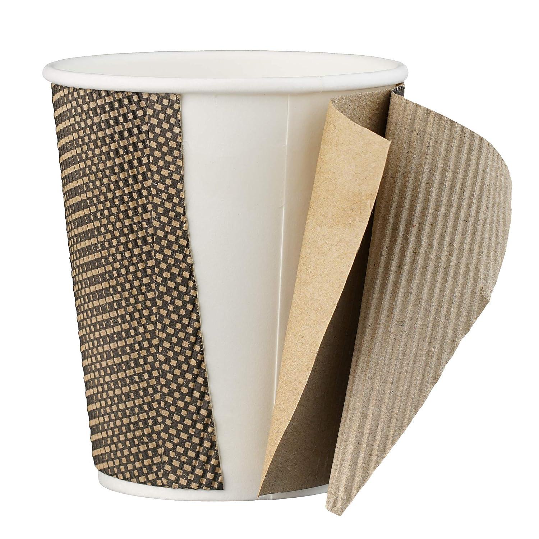 RIPPLE Tazze con coperchio per caff/è e bevande da asporto Tre Strati di Isolazione 25 Tazze con Coperchio a tenuta stagna 12oz Tazze Monouso