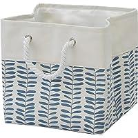 T&T Homewares, Storage Bin, Laundry Hamper, Canvas Fabric Collapsible Organizer Basket for Laundry Hamper, Toy, Kids…