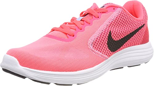 Nike Wmns Revolution 3, Zapatillas de Trail Running para Mujer, Rosa (Hot Punch/Black/Aluminum/White 602), 44 EU: Amazon.es: Zapatos y complementos