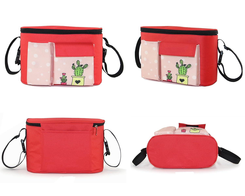 Kinderwagen Organizer Stroller Bag mehrere Taschen Gro/ße Kapazit/ät Zwei Methoden der Verwendung