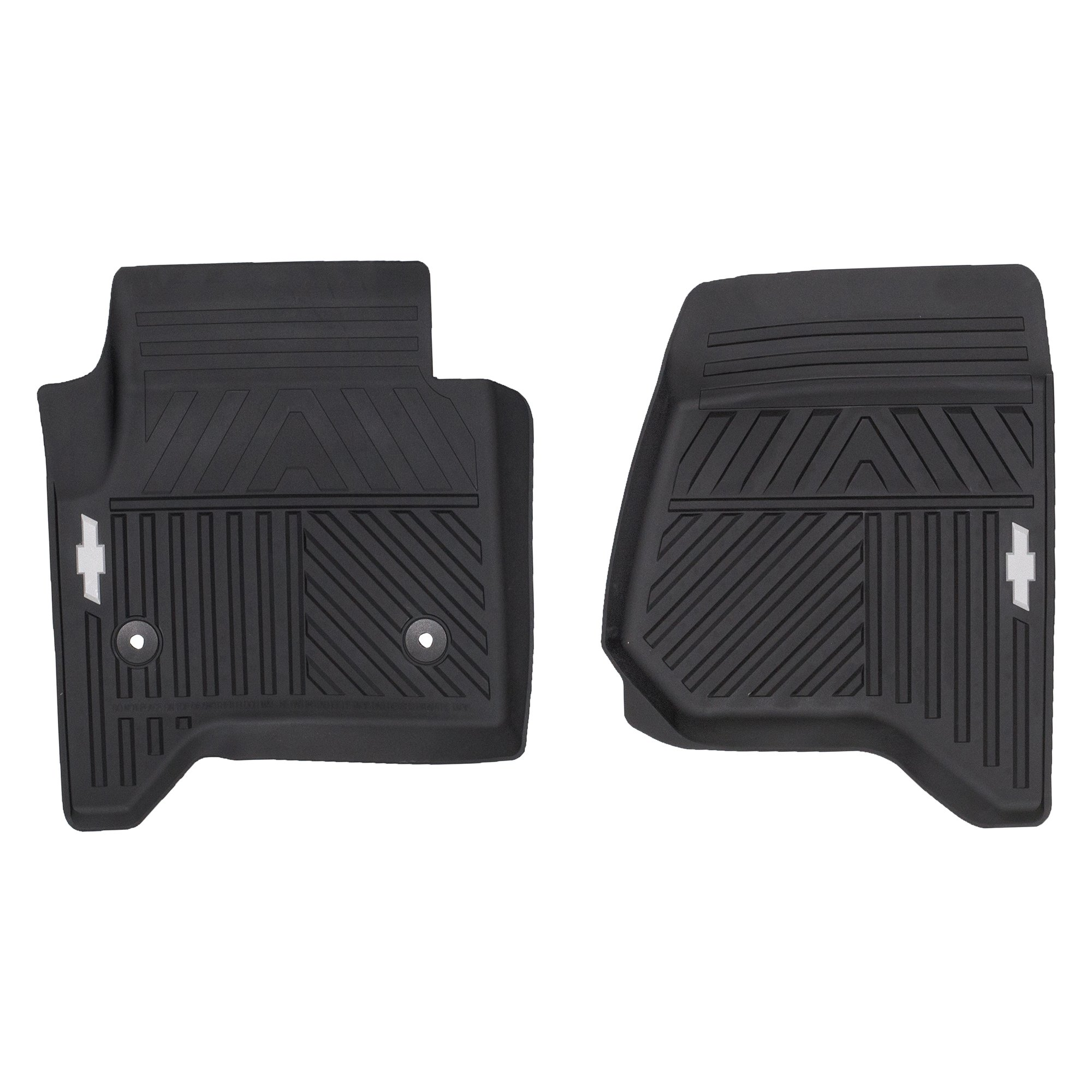 OEM NEW Front All Weather Rubber Floor Mats w/Bowtie 14-18 Silverado 84039114