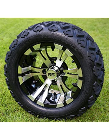 Amazon.com: Golf Cart - Tire & Wheel emblies: Automotive on skid steer tires, industrial tires, motorcycle tires, 18 x 8.50 x 8 tires, utv tires, 18x8.5 tires, atv tires, sahara classic tires, trailer tires, 23x10.5-12 tires, 20x10-10 tires, carlisle tires, tractor tires, ditcher tires, sweeper tires, v roll paddle tires, bicycle tires, mud traction tires, truck tires,