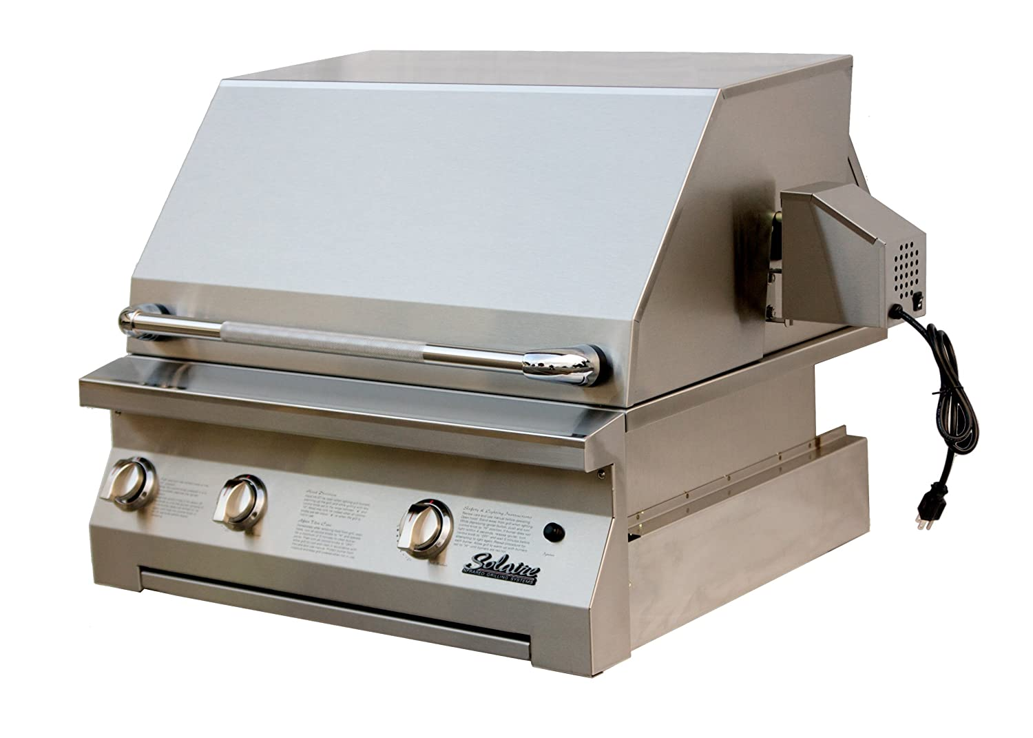 Solaire 30-Inch InfraVection Natural Gas Built-In Grill with Rotisserie Kit, Stainless Steel