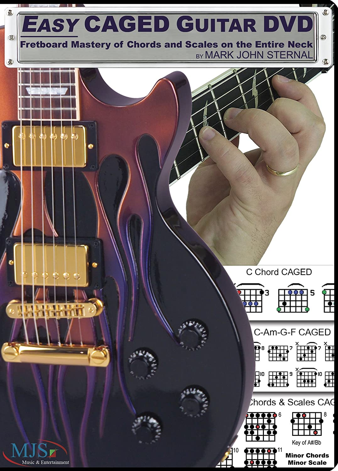 Amazon Easy Caged Guitar Dvd Fretboard Mastery Of Chords And