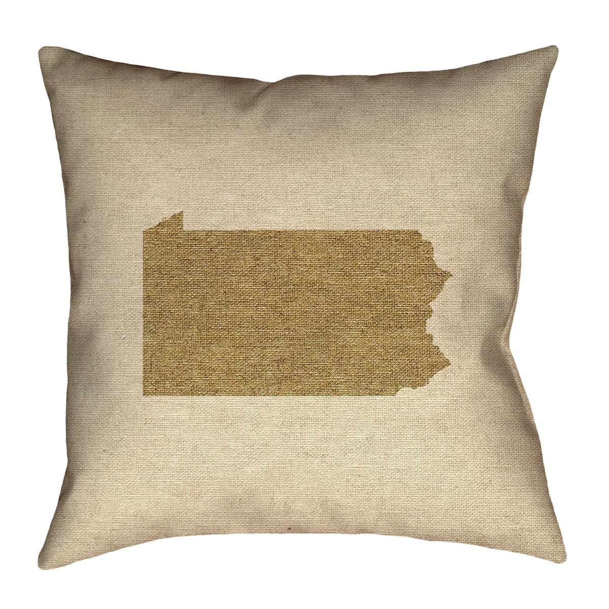 ArtVerse Katelyn Smith 20 x 20 Faux Suede Double Sided Print with Concealed Zipper /& Insert Pennsylvania Canvas Pillow