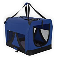 Paw Mate Soft Dog Crate L - Blue