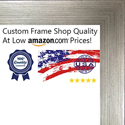 Amazon.com - 24x36 Contemporary Silver Wood Canvas Floater Frame ...