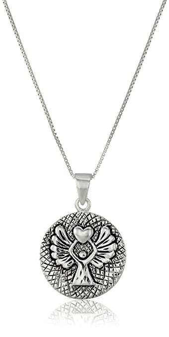 children p angel guardian silver htm star necklace s