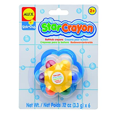 Alex Rub a Dub Star Crayon in the Tub Kids Bath Activity: Toys & Games