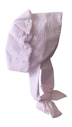 Petit Ami Baby Infant Girls and Boys Seersucker Sun Hat Sizes (Pink Stripe  Seersucker d1eb16a67d54