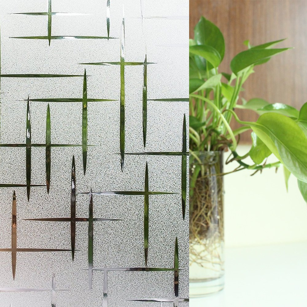 YORIEVER Decorative Glass Film,Privacy,frosted wimdows Film,Decorative for Home,Hotel,Bedroom 35.4in. By 78.7in (90CM X 200CM)