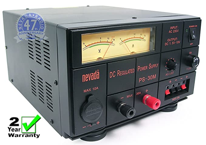 Nevada PS-30M NEW 25/30 Amp Linear Power Supply