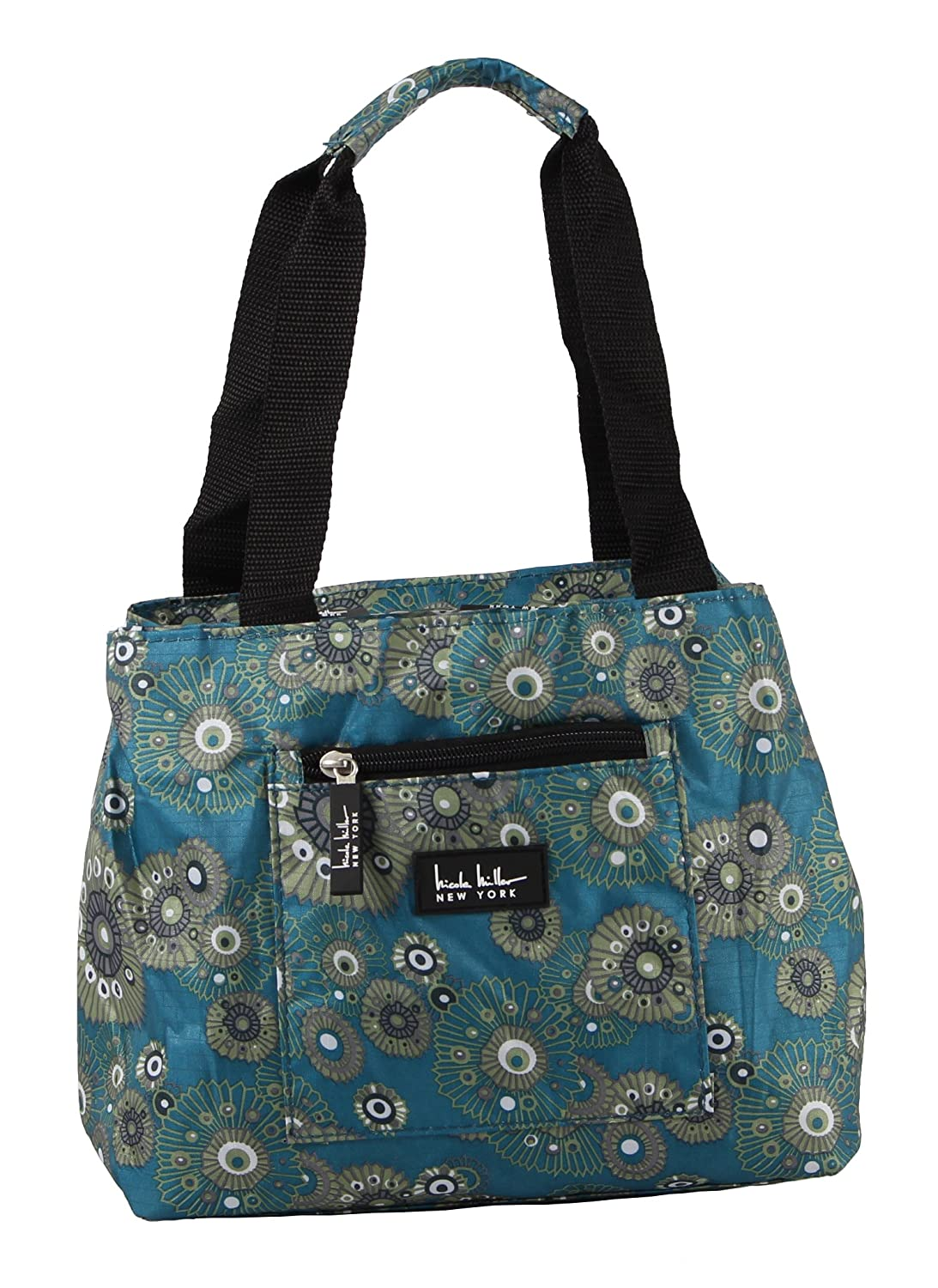Nicole Miller Insulated 11 Lunch Tote Blue Fushion