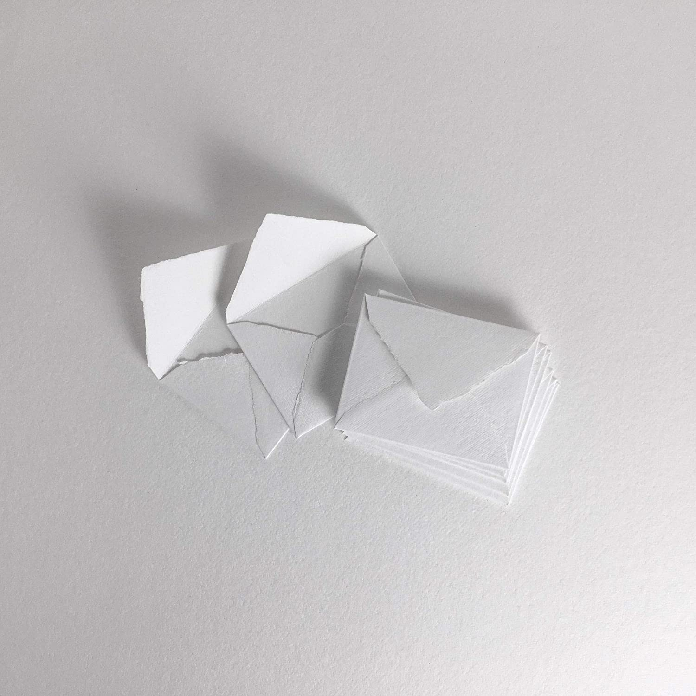 10 Festonné Edge Carte blanche Blanks Simple pli 204 x150mm /& Blanc Envs