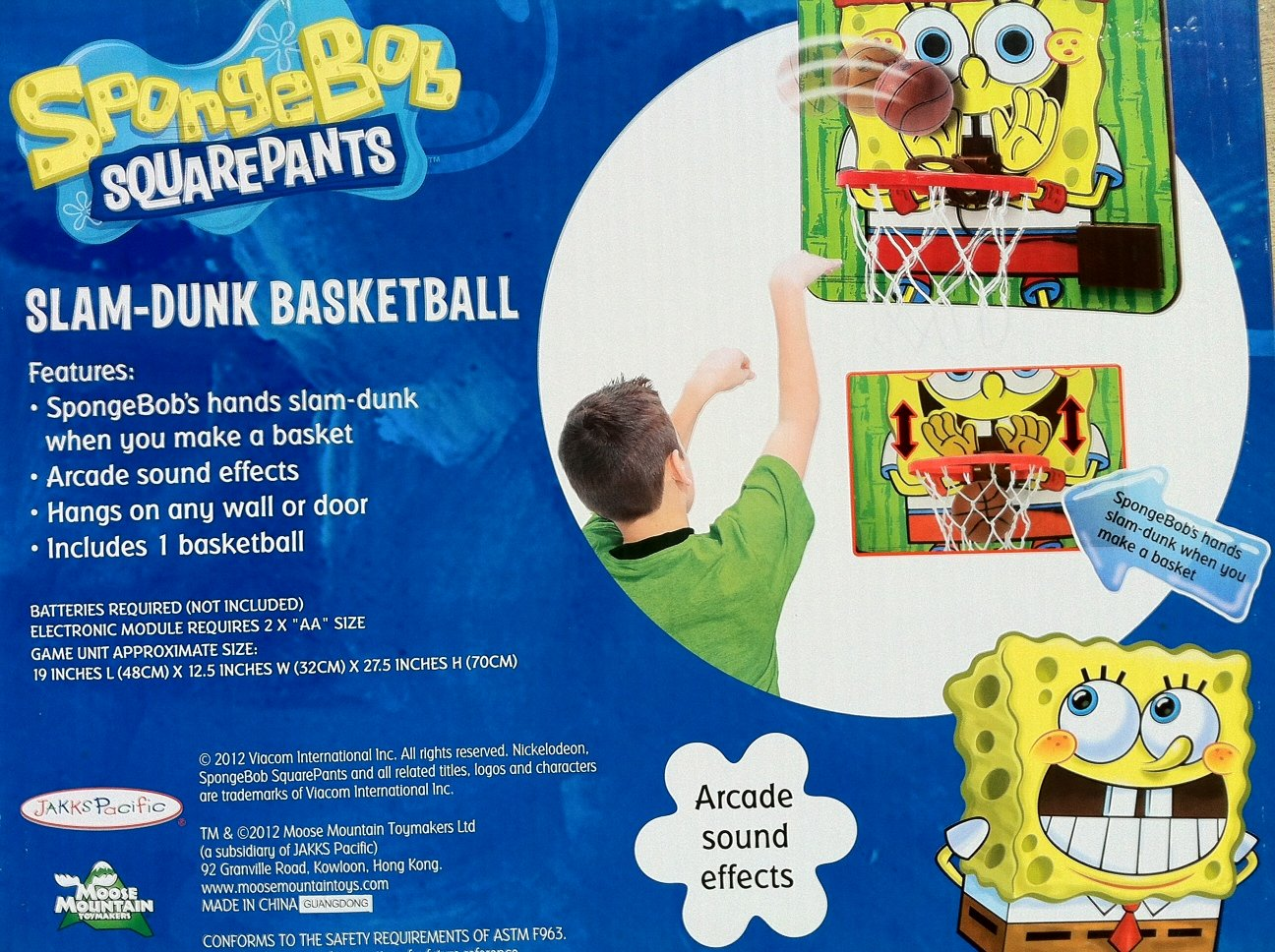 Nickelodeon Spongebob Slam Dunk Basketball, Arcade Sound Effects