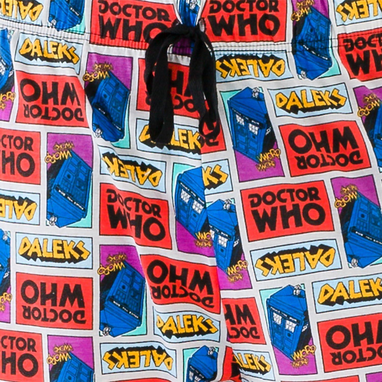 M Multicoloured Doctor Who Mens Tardis Lounge Pants
