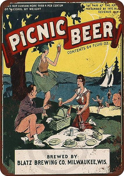 Amazon.com: diaolilie 1934 Blatz Picnic Beer Vintage ...