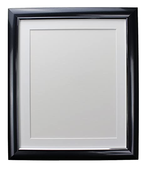 Frames By Post Soda Charcoal Picture Photo Frame With White Mount 30