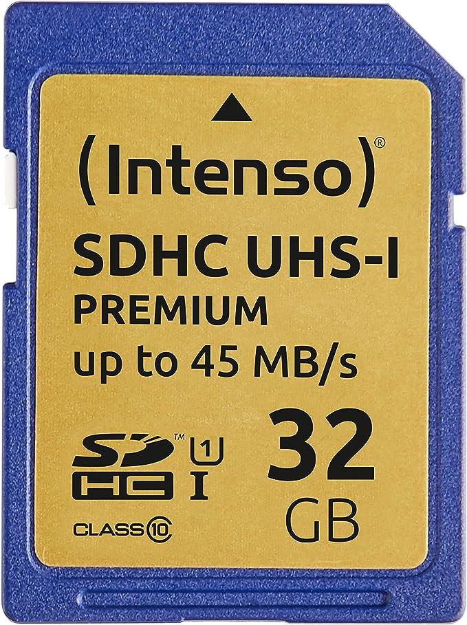 Intenso Sdhc Uhs I 32gb Class 10 Speicherkarte Blau Computer Zubehör