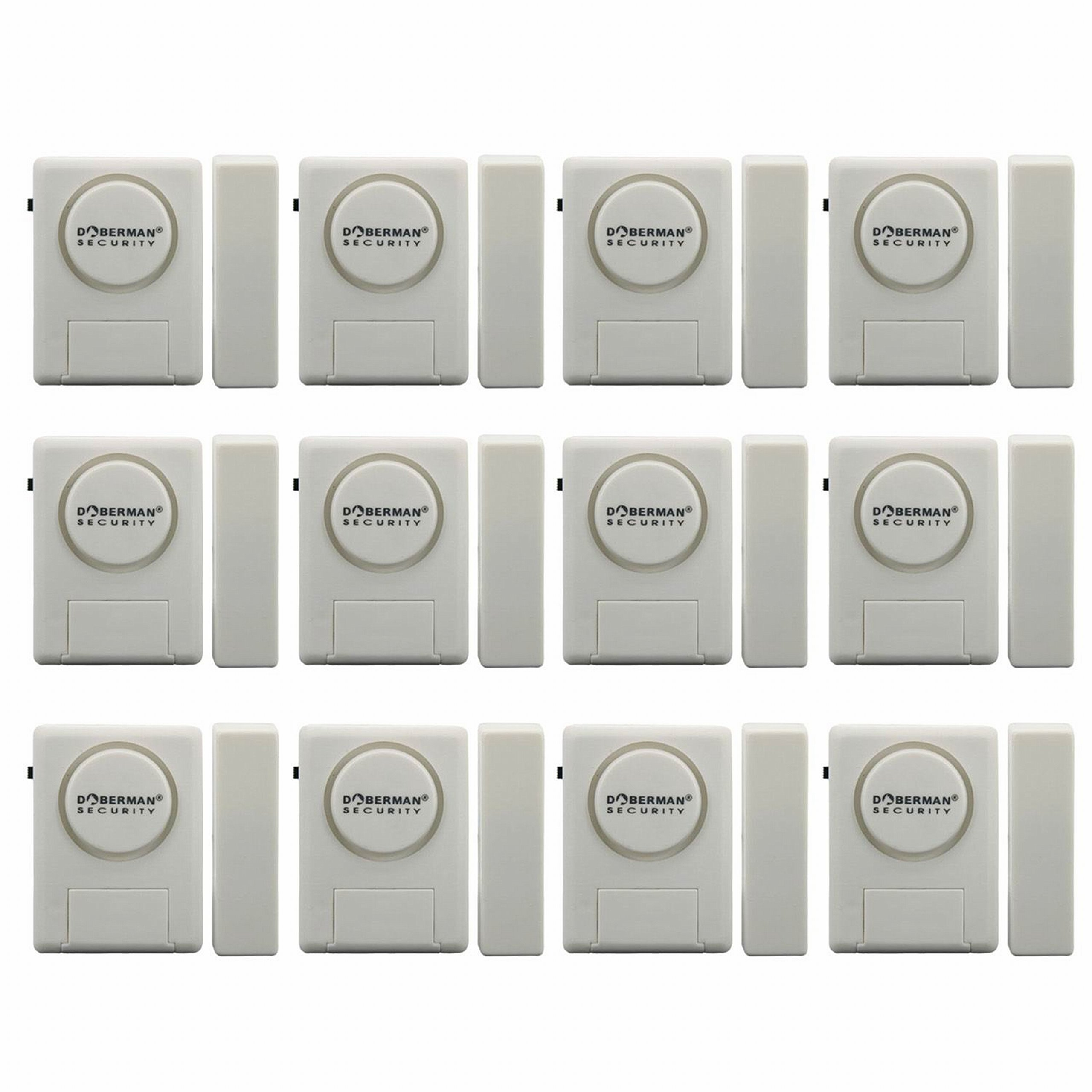 Doberman Security SE-0137 Home Security Window/Door Alarm Kit, 12 Pack (White)