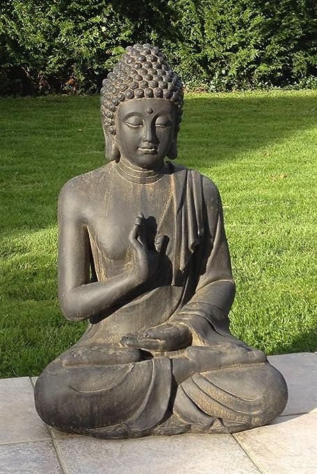 Loft Asia Estatua Zen de Buda, protección, 73 cm, para el hogar o el jardín: Amazon.es: Hogar