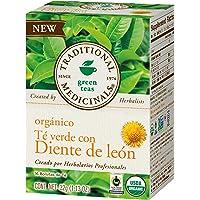 Traditional Medicinals, Te Verde Orgánico Con Diente De León, 32 Gr, 16 Bolsitas De Té